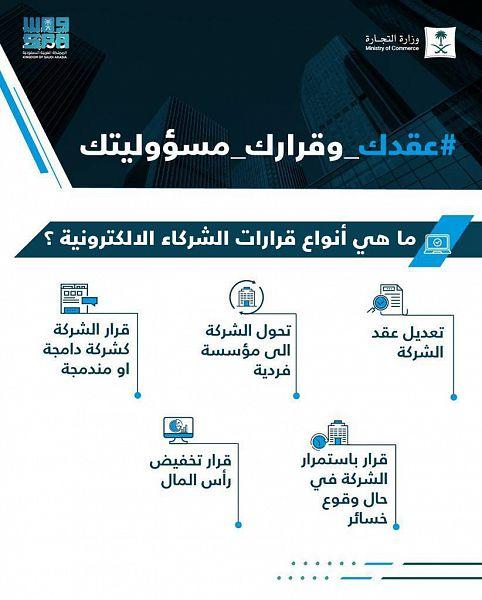 #السعودية   #التجارة تطلق خدمة القبول الفوري الإلكتروني لعقود تأسيس الشركات
